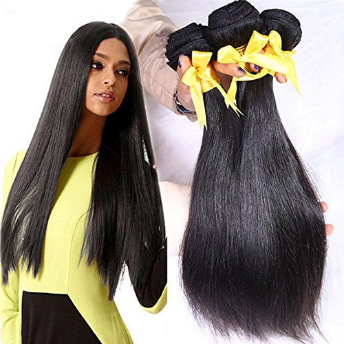 SHKY Peruvian Virgin Straight Hair 3 Bundles Top Grade 8A Unverarbeitete 100% Menschliches Haar Natürliche Farbe Mixed Länge 100g / Bundle , 12-110CM-144W