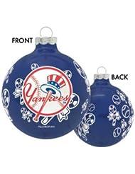 New York Yankees MLB Traditional Round Ornement de Noël
