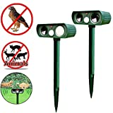 Shopystore Ultrasonic Solar Power Pest Animal Repeller Repellent Garden Bat Cats