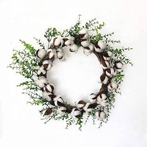 FLYWM Weihnachten Dekoration Nachahmung trockene Baumwolle Girlande Weihnachten Halloween Türsturz Dekoration