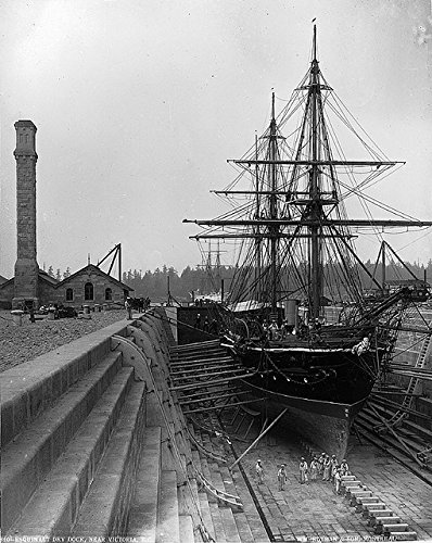 poster-esquimault-dry-dock-near-victoria-bc-1887-montreal-quebec-canada-wall-art-print-a3-replica