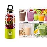 Emsems Portable Juicer Cup, Schneiden Fruit Slicer - USB Aufladbare, 500ml, Elektrische Mixer - Blend Obst, Gemüse, Baby Foods - für zu Hause, Reisen, Outdoor-Sport Kunststoff (Color : Yellow)