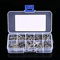 200pcs 10Values Voltage Regulator Diode Assortment Kit electrónico 1N4001~1N4007 1N5817~1N5819 con caja transparente