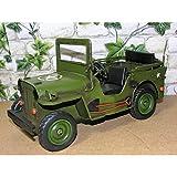 Großes Blechauto Militär Jeep 30cm Fahrzeug US Retro Antik Stil Modell Auto Oldtimer