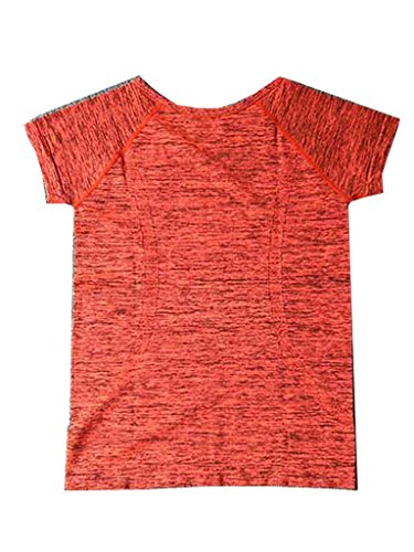 Blooming Jelly femmes manches courtes yoga Yoga Sports T-shirt Tees Orange