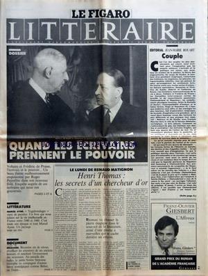 FIGARO LITTERAIRE (LE) [No 0] - J.MARIE ...