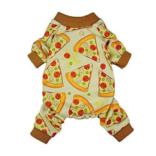 Fitwarm Pizza Haustier Kleidung für Hunde Pyjama Katze PJS Jumpsuits Shirts (Pyjama Kleidung Hund Pjs)