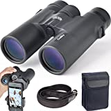 Gosky Fernglas 10x 42 Prism System Wasserdicht Hochleistungs Vergrößerung Ferngläser - FMC grün Film Ziel Lens- für Aktivitäten wie Klettern, Wandern, Fahren, und Tiere Beobachten (10*42 Fernglas con adapter)