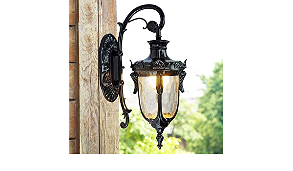 Cxwcy 1xe27 Wall Lights Lamp Oil Outdoor Lanterns Decking Victorian Style Wall Sconce For Garden Balcony Porch Antique Outdoor Wall Light Lantern Wtih Clear Glass Shade Amazon Co Uk Lighting
