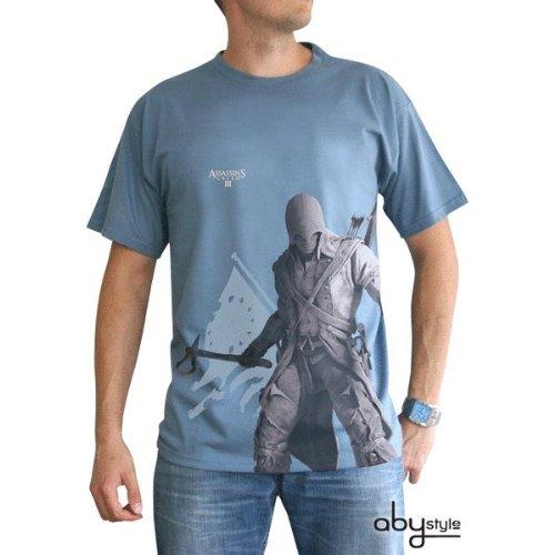 tex194-m Abysse Assassin 's Creed Connor Stand Up kurzen Ärmeln Herren Basic T-Shirt (mittel) (Assassins Creed Kostüm Hoodie)