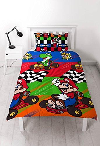 Nintendo Mario 'Champs' Single Bettbezug Set–Repeat Print Design (Super Mario Bros Party Ideen)