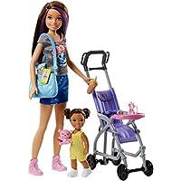 Barbie FJB00 muñeca - Muñecas (Multicolor, Femenino, Chica, 3 año(s), Barbie, Portabebés, Estuche de juego de muñeca)