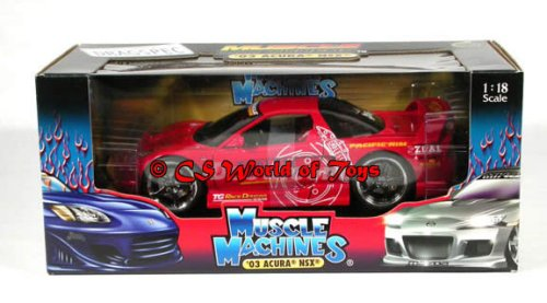 Muscle Machines - MUSCLE TUNERS - 2003 HONDA ACURA NSX - ROT - FAST & FURIOUS - Die-Cast 1:18