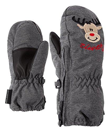 Ziener Baby LE ZOO MINIS glove Ski-handschuhe / Wintersport |warm, atmungsaktiv, grau (dark melange.black), 98cm