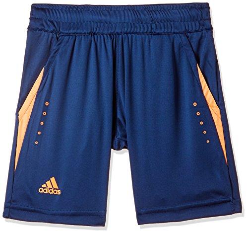 adidas Jungen Barricade Shorts, Mystery Blue/Glow Orange, 140