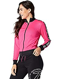 Zumba Fitness When the Sun Goes Down Mesh Zip Up pour homme Top