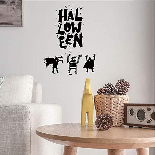 ylckady Wiederverwendbare Wiederverwendbare Halloween Hintergrund Dekoriert Wohnzimmer Schlafzimmer Wandaufkleber Sensenmann Wandaufkleber
