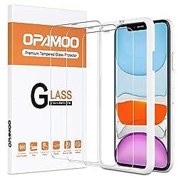 opamoo Panzerglas für iPhone 11, 3 Stück Schutzfolie für iPhone XR mit Positionierhilfe Panzerglasfolie für iPhone 11 9H Härte Anti-Kratzen Anti-Bläschen Displayschutzfolie für iPhone 11/XR, 6,1 Zoll