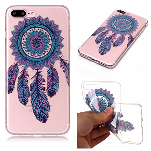 Per iPhone 7 Plus / iPhone 8 Plus Cover , YIGA Fiore di scheletro Cristallo Trasparente Silicone Morbido TPU Case Shell Caso Protezione Custodia per Apple iPhone 7 Plus / iPhone 8 Plus (5,5 pollici) XS77