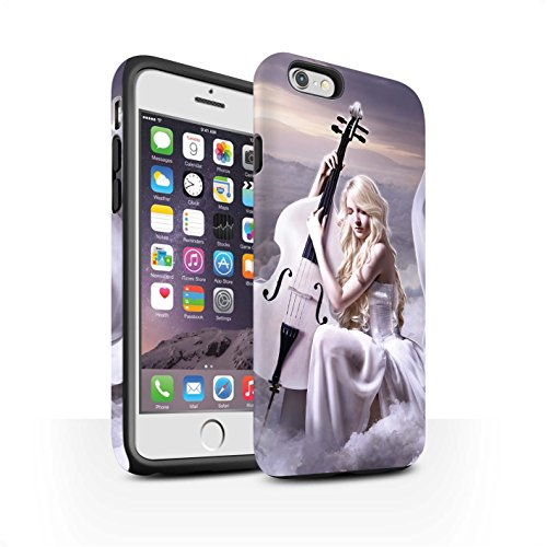 Officiel Elena Dudina Coque / Matte Robuste Antichoc Etui pour Apple iPhone 6 / Harpe/Harpiste Design / Réconfort Musique Collection Violoncelle/Nuages