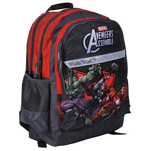 KINDER RUCKSACK 42x29x17 cm - MARVEL AVENGERS COLLECTION - GRAU / ROT