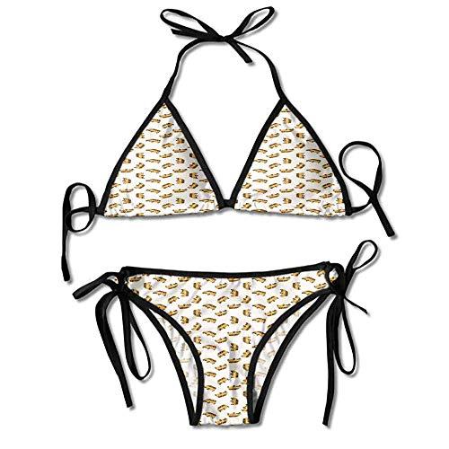 VTXWL Custom Pattern Swimsuit Bikini Bottom Swim Skirt with Panty for Women - Hi-rise Panty