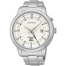 Seiko Uomo KINETIC GMT Analog Dress Reloj NWT SUN029P1