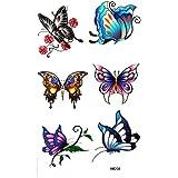 King Horse imperméables colorés insectes papillon tatouage autocollant