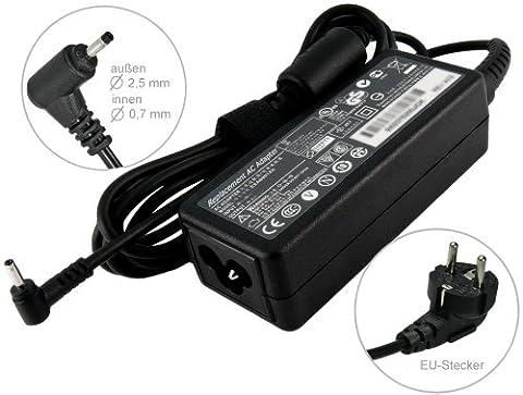 40W Adaptateur chargeur secteur AC Adapter pour ordinateur portable Asus UL30A, Asus Eee Pc 1008PE-KR R101PX. Avec câble d'alimentation standard européen. De