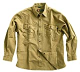Robustes Outdoor Herrenhemd Overshirt in Braun, Blau und Mustard, Langarm- Shirt