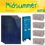 Off Grid sistema de energía solar 1.6KVA 10.56kWh recargable 12V 780W–para casetas de playa–Entrega gratuita Reino Unido