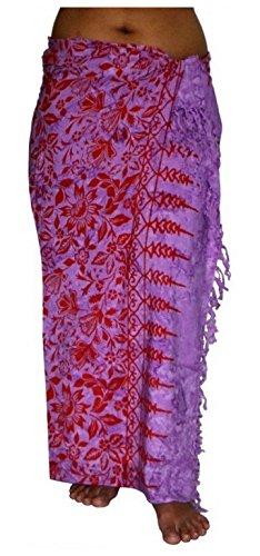 ca.100 Modelle im Shop Sarong Strandtuch Pareo Wickelrock Loop violet rot Sar32