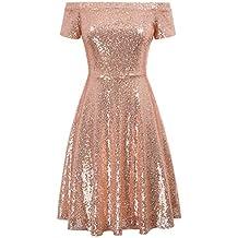 26c3c727e740 Amazon.it  Vestiti donna cerimonia - vestito donna - abiti belli da ...