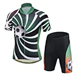 LSERVER-Niños Maillots de Bicicleta Conjunto de Ropa de Ciclo Jersey de manga corta + Pantalones