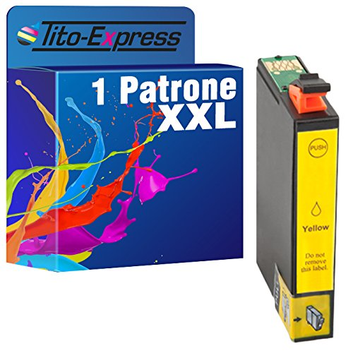 Cartuccia PlatinumSeries 1 giallo XXL per Epson TE1631-TE1634 16XL | adatto per WorkForce WF-2630WF WF-2650DWF WF-2750DWF WF-2510WF WF-2010W WF-2660DWF WF-2760DWF