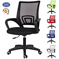 EUCO Office Chair Executive Desk Chair Adjustable Ergonomic Mesh Task Office Chair Comfy Padded Swivel Chair In Black/Grey/Blue/Green/Red/Orange