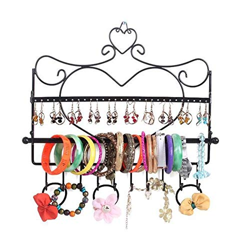 EisEyen Metall Schmuckaufbewahrung Schmuckständer Schmuckbaum Hängeaufbewahrung für Halsketten, Ohrringe, Armbänder und andere Accessoires