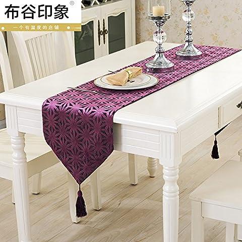 ZQ@QX Table minimaliste moderne de style européen drapeau tissu violet