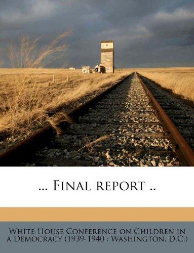 ... Final report ..