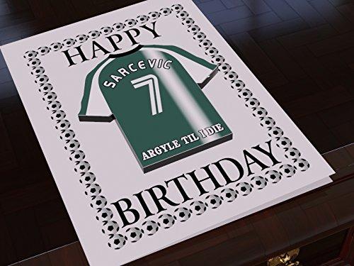 League One Football Club Kühlschrank Magnet Geburtstag Karten–Jeder Name, beliebige Farben,., Plymouth Argyle FC Fridge Magnet Card Plymouth Karten
