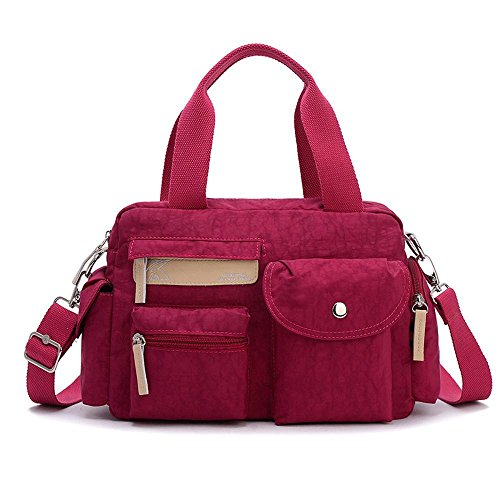 Aoligei Imperméable en nylon sac à bandoulière léger pli résistant Loisirs Sports sac féminin oxford chiffon messager sac à main