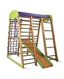 Kinder zu Hause aus Holz Spielplatz mit Rutschbahn