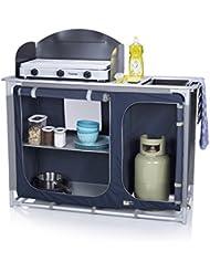 Cocina de camping Alicante Campart Travel KI-0753 – Con paravientos – Espacio para bombona de gas