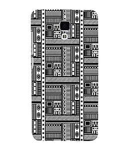 PrintVisa Black White Design 3D Hard Polycarbonate Designer Back Case Cover for Xiaomi Redmi Mi 4 :: Redmi Mi 4