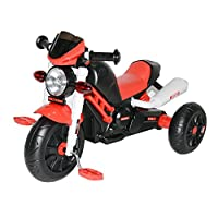 Kids Motor Bike Designed Manual Pedal Ride On Push Along Tricycle Trike with Light and Music