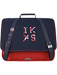 Cartable 41 Rouge IKKS Union Jack Russel