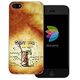 dessana Cocktail Rezepte Transparente Silikon TPU Schutzhülle 0,7mm Dünne Handy Tasche Soft Case für Apple iPhone 5/5S/SE Salty Dog