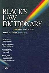 [(Black's Law Dictionary: Pocket Edition)] [By (author) Bryan A. Garner] published on (August, 2006)