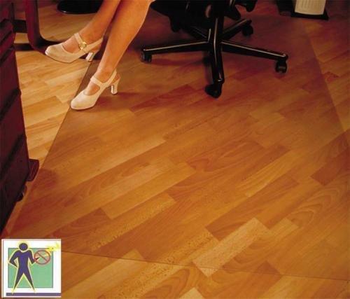 CET Bodenschutzmatte Premium - 90x120cm für Laminat, Parkett, Fliesen und harte Böden