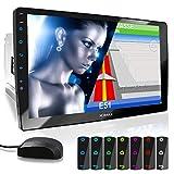 """XOMAX XM-2VN1003 Autoradio con Touch Screen XXL regolabile (10"""" / 25 cm) I Mirrorlink I Navigazione GPS I Bluetooth I Collegamenti per microfono esterno e retrocamera I RDS I USB I 2 DIN"""